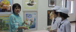 """นิทรรศการศิลปะ """"ทำความดีเพื่อในหลวง ห่วงใยสิ่งแวดล้อม"""" ครั้งที่ 3 อาคารเทศบาลชุมพร ชุมพร"""