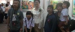 แสดงนิทรรศฯเด็กไทย หัวใจศิลป์4th ความสุขรอบตัวฉัน  byสีซากุระ สุราษฎร์