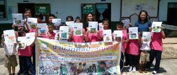 บ้านรักศิลปะ จิตอาสา มาสอนศิลป์ ร.ร.วัดดอนกุฎี อ.ปะทิว ครั้งที่ 10 ซึ่งทั้งโรงเรียน มีครู3คน นร.18คน เมื่อ 22 พฤษภาคม 2557