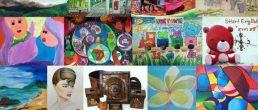 พิมพ์แล้วคะ หนังสือนิทรรศการศิลปะบ้านรักศิลปะ *ความสุขและจินตนาการ* เล่มที่4 จัดตั้งแสดงงานศิลปะ ณ พิพิธภัณฑสถานแห่งชาติ ชุมพร