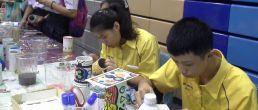 WorkShop PaperMache ศิลปะจากกระดาษที่ใช้แล้ว ช่วยลดโลกร้อน โครงการคิดใสไทยแลนด์ ซีซั่น3 @ม.แม่ฟ้าหลวง จ.เชียงราย 21-7-60