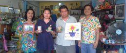 ครูพรเทพจากนครพนม สัญจรมาชุมพรอบรมหลักสูตรศิลปะของบ้านรักศิลปะชุมพร